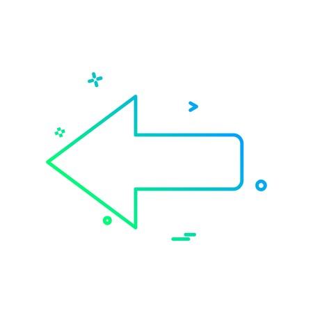 Left arrow icon design vector