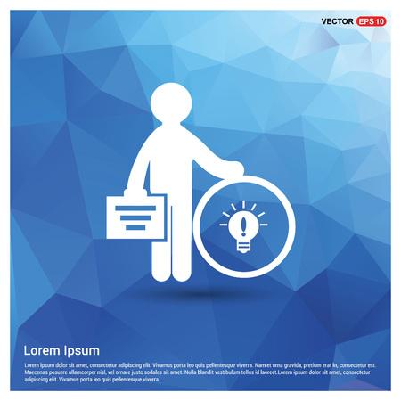 Businessman with idea icon