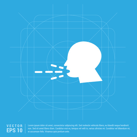 Person coughing icons