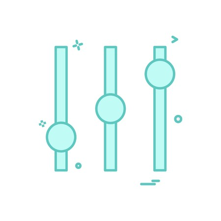 Equilizer icon design vector Illustration