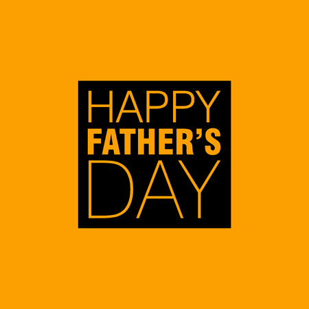 Happy Father's day card with typography vector Illustration