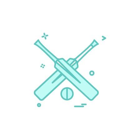 bat bats ball cricket icon vector design
