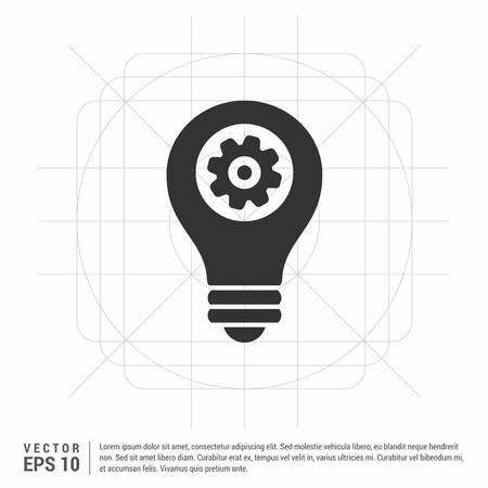 bulb icon Stock Illustratie