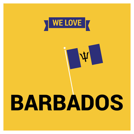 Barbados Independence day card design vector Vecteurs