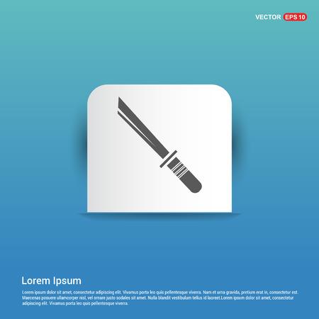 Katana Sword Icon - Blue Sticker button