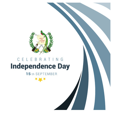 Guatemala Indpendence day design vector Vetores