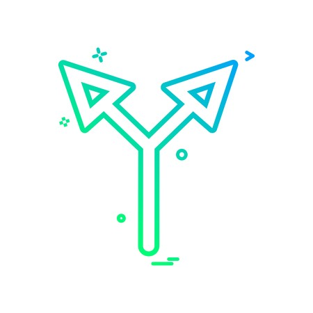 arrow up two way icon vector design
