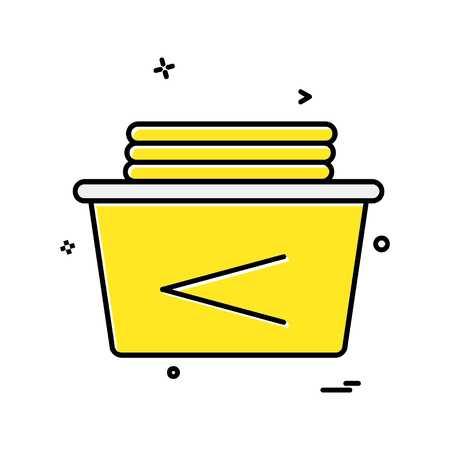 Washroom icon design vector Ilustración de vector