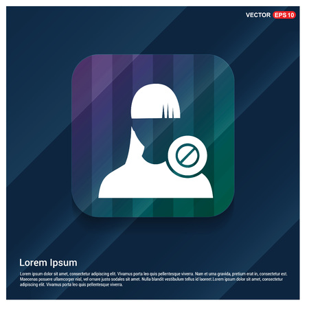 Block user icon. Illustration