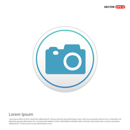 Photo camera icon - white circle button