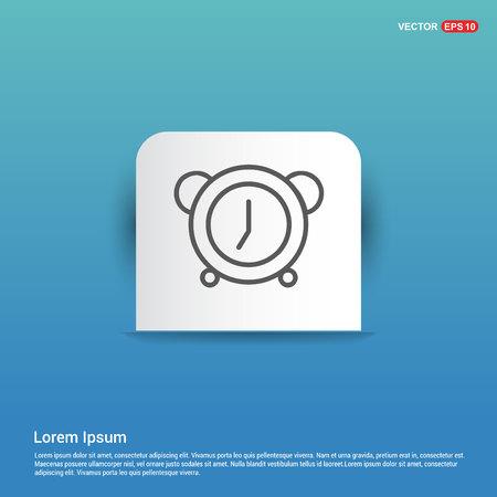 Alarm clock icon - Blue Sticker button