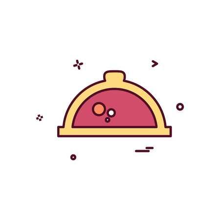 Hot pot icon design vector Vektoros illusztráció