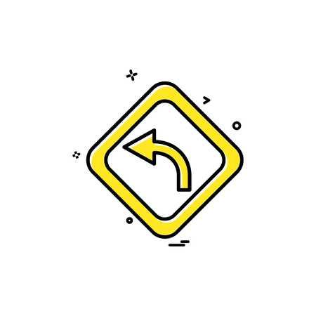 conception de vecteur icône flèche gauche centre