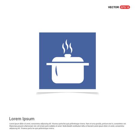 Cooking pot icon - Blue photo Frame Vecteurs