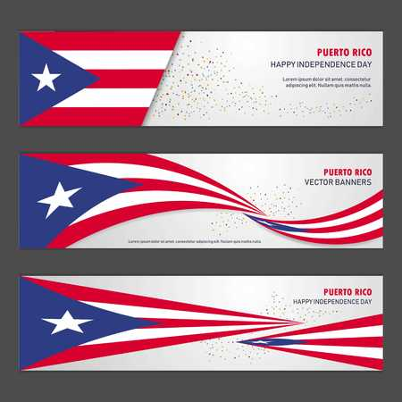 Puerto Rico independence day abstract background design banner and flyer, postcard, landscape, celebration vector illustration