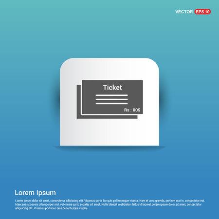 ticket icon - Blue Sticker button