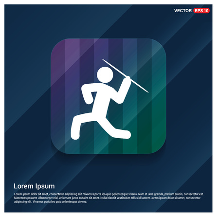 Javelin Throw Icon Vectores