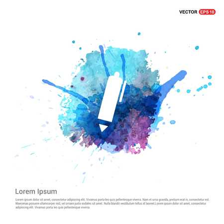 Writing pen icon - Watercolor Background