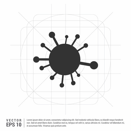 connection of cells molecule icon Векторная Иллюстрация