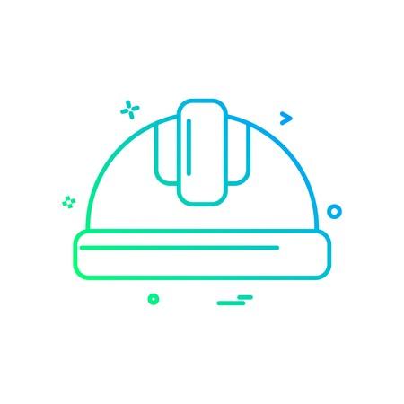 helmet labor icon vector design Stock Vector - 118347111