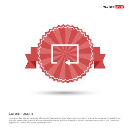 Refresh icon - Red Ribbon banner Illustration