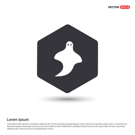 Ghost icon Hexa White Background icon template - Free vector icon
