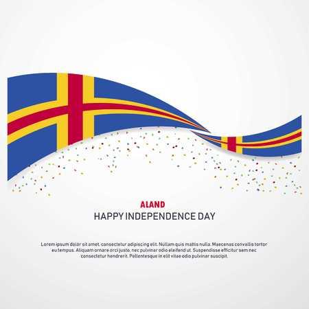 Fondo de feliz día de la independencia de Aland Ilustración de vector