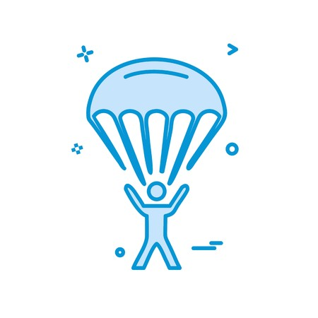 parachute icon design vector Иллюстрация