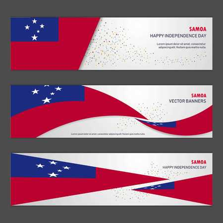 Samoa independence day abstract background design banner and flyer, postcard, landscape, celebration vector illustration