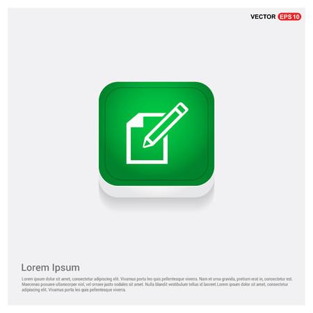 Edit, pencil iconGreen Web Button - Free vector icon