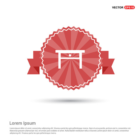 Table Icon - Red Ribbon banner