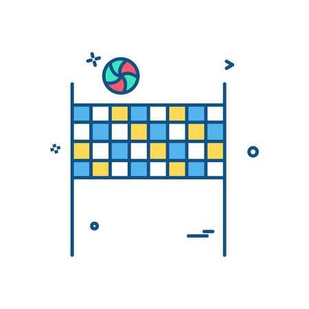 volleybal icon vector design Stock Illustratie