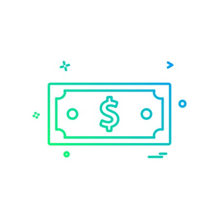 dollar money currency icon vector design