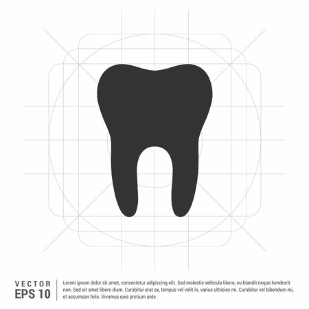 Vector Tooth Icon Illustration