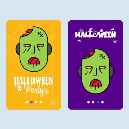 Happy Halloween invitation design with ghost vector