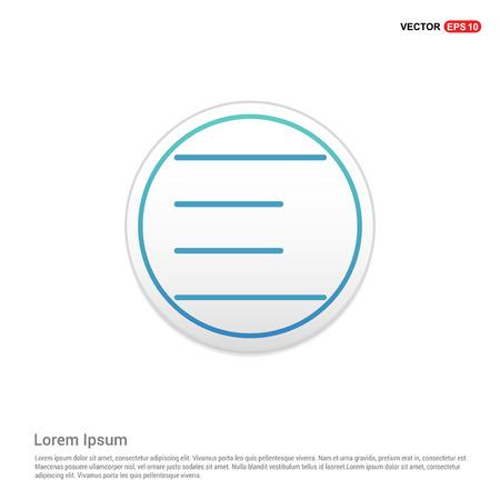 Align text icon - white circle button Ilustrace