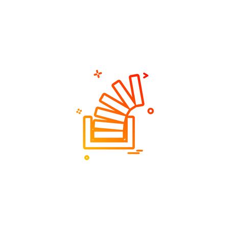 Stackoverflow icon design vector Çizim
