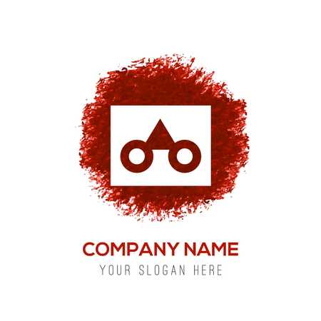 glasses frame icon - Red WaterColor Circle Splash
