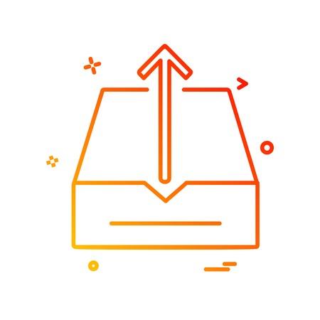 Uploading icon design vector