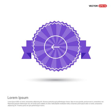 Back arrow icon - Purple Ribbon banner