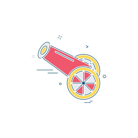 Cannon icon design vector