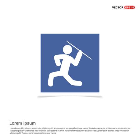 Javelin Throw Icon - Blue photo Frame