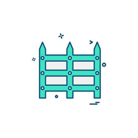 Begrenzungswand-Icon-Design-Vektor