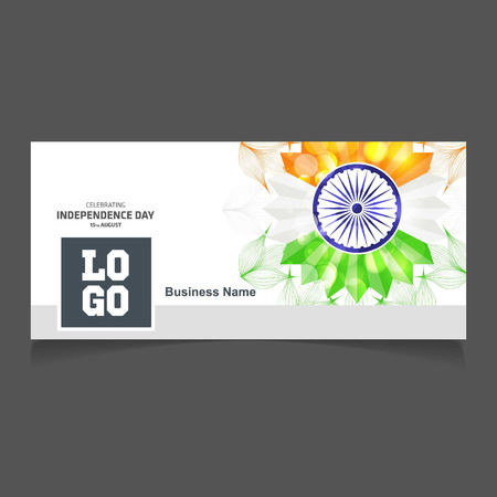 India Independence day social media cover vector