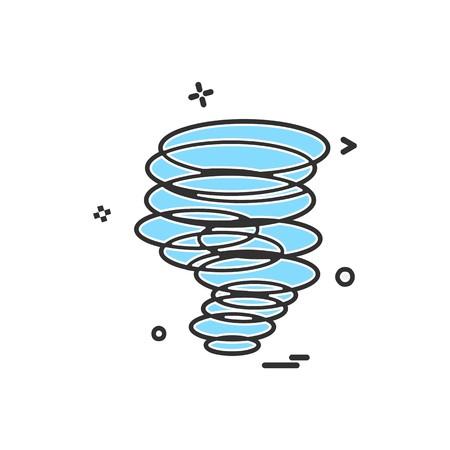 Twister icon design vector
