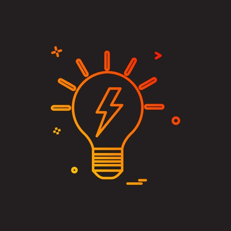 blub power electric icon vector design Imagens - 118349905