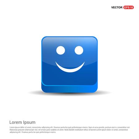 Emoji icon - 3d Blue Button.
