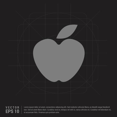 Apple fruit icon - Black Creative Background - Free vector icon