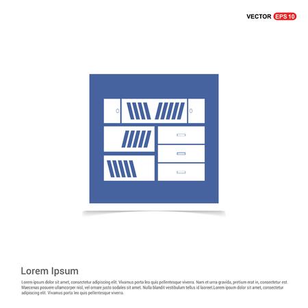 Book Shelf Icon - Blue photo Frame