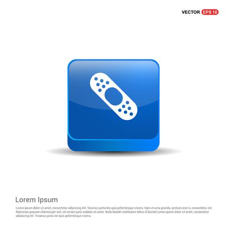 Bandage icon - 3d Blue Button.